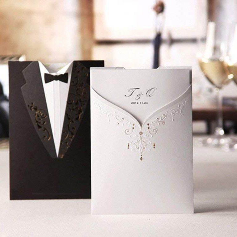 Juego de 20 invitaciones de boda con sobre