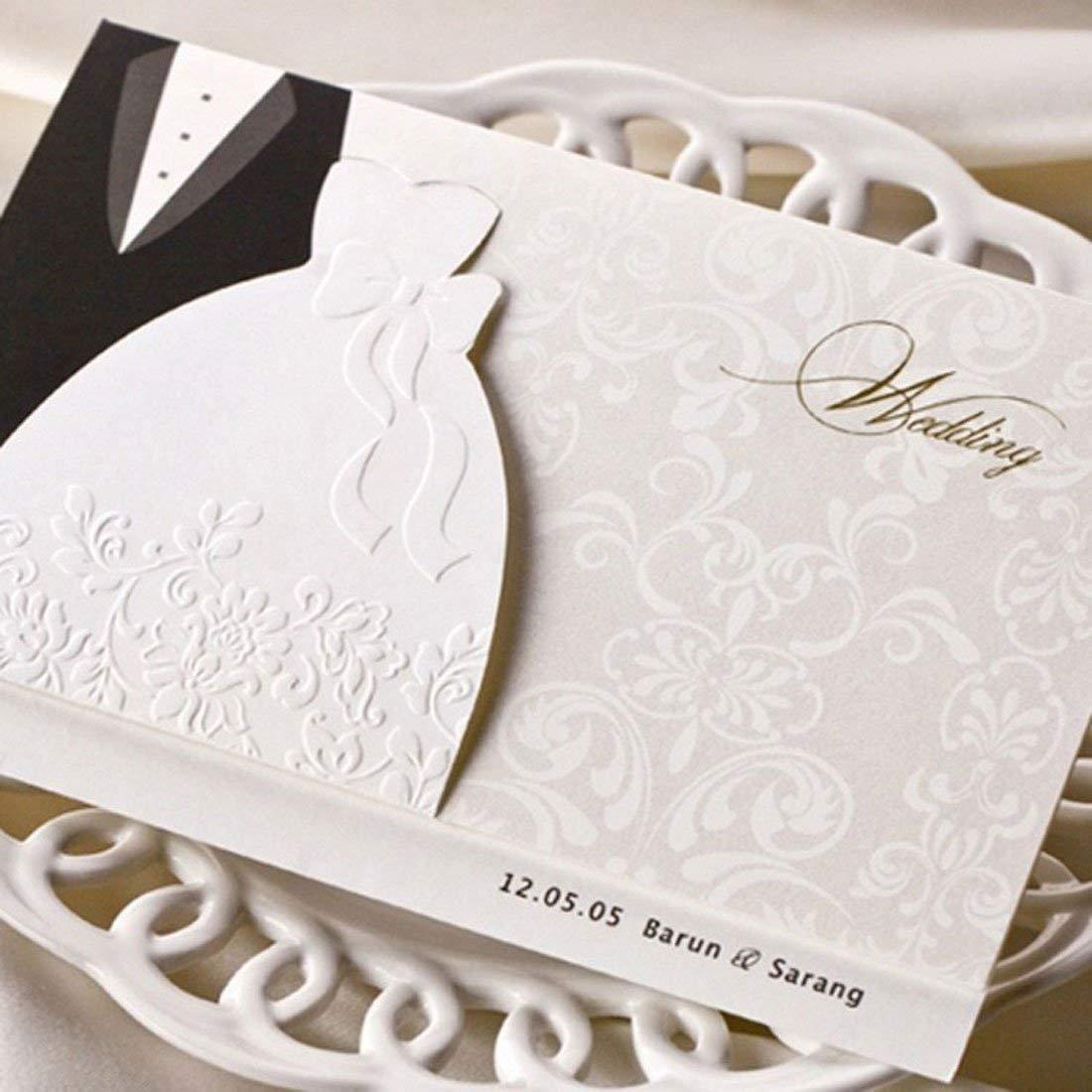 Juegos de invitaciones de boda VStoy, tarjetas de invitación para compromiso