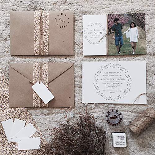 INVITACIÓN para BODA NATURAL Invitación primavera para una boda con estilo rústico/vintage