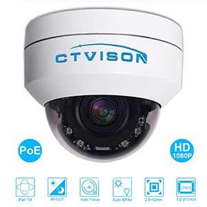 CTVISON Cámara HD1080p PoE PTZ