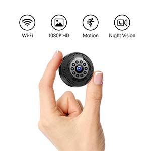 Mini Camara Espia Oculta Bluetooth, MHDYT WiFi HD 1080P